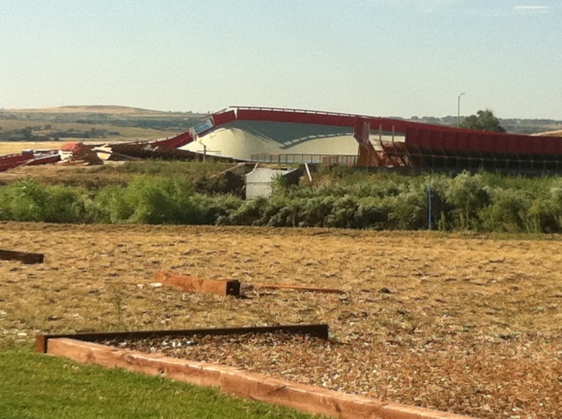 Small Twister Takes a Spin on This Velodrome in Erie, Colorado