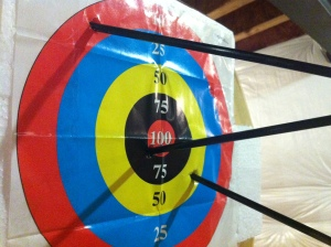 guess which ones are mine? yeah. I'm in the outer ring. i did COACH that bullseye shot.