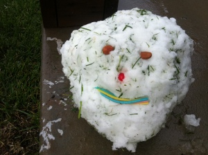 be a happy snow person