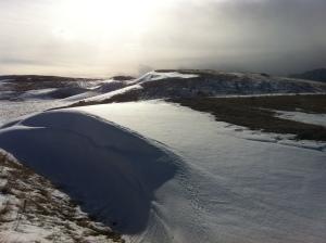 found a snow dune