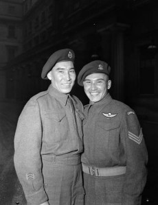 Tommy Prince w/ his brother Morris at Buckingham Palace